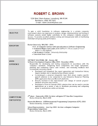 Objective For Resumes Resume Templates
