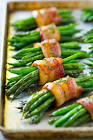 asparagus bundles or green bean bundles