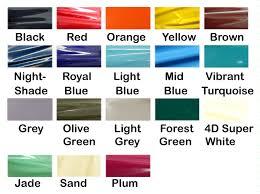 Jade Colour Chart Into Latex Colour Chart