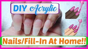 diy acrylic nails fill in at home