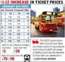 Odisha Bus Fare Chart Best Buses Bmc Clears Bests Proposal Expect Bus Fare Hike