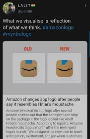 New york (cnn business) amazon has quietly changed the design of its new app icon, replacing the blue ribbon on top that drew some unfavorable comparisons. How The Amazon Logo Change Left Twitter In Splits