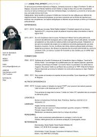 Resumes Cv Francais Modele Facture Gallery Of French Example Resume