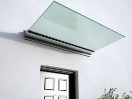 glass and aluminium door canopy with built in lights linea glass door canopy by