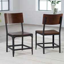 metal dining chairs. Perfect Dining Belham Living Trenton Wood And Metal Dining Chairs  Set Of 2  Hayneedle Inside B