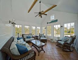 Sunroom Decorating Coastal Cottage In Nova Scotia Note All The Storage Under The