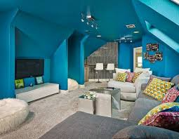Delighful Basement Bedroom Ideas For Teenagers Turquoise Modular Seating And Design Inspiration