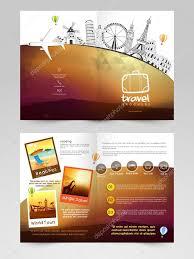 Reisbrochure Reisbrochure Sjabloon Of Flyer Ontwerp Stockvector