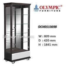 olympic furniture. DCH0113698 Lemari Hias Kaca LONDON Olympic Furniture R