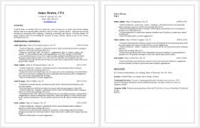 Professional Cpa Resume Sample Cpa Resume