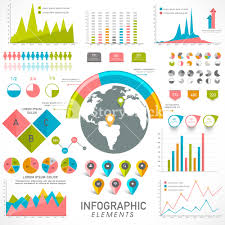 Business Charts And Graphs Creative Statistical Infographic Elements With Colorful