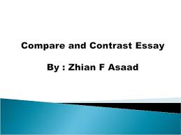 Compare Two People Essay Compare And Contrast Essay