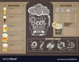 Design A Menu Free Vintage Beer Menu Design On Cardboard