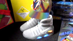 back to the future ii 1989 marty mcfly 2016 nike mag shoes lenticular baseball cap you