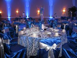 Royal Blue And Silver Wedding Pictures