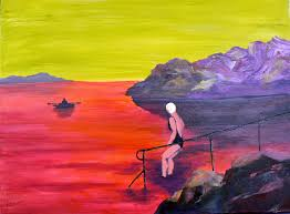 from there i continued to add to the theme very much influenced by the colours mystery and ambiguity of peter doig s paintings
