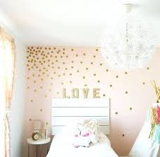 polka dot wall decals rose gold decal stickers