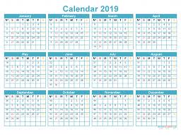 print a calendar 2019 printable 2019 12 month calendar template on 1 page us edition