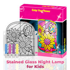 Stained Glass Night Light Kits Kids Lamp Diy Kit Build Your Own Stained Art Night Lamp