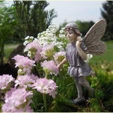 garden fairy statues. Miniature Fairy Statues Figurines - Garden Decoration Accessories Village Pieces (Forrest) N