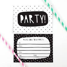 invitation party templates black and white birthday invitation templates kays makehauk co