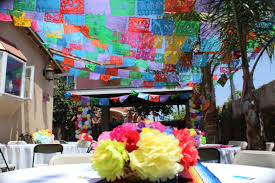 Fiesta Table Decorations Mexican Fiesta Decoration Papel Picado Flags Paper Flowers Baby