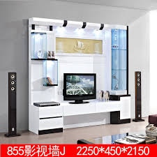 3 m white living room furniture Chinese LCD TV cabinet 855 new living room  TV cabinet