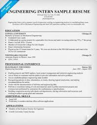 Resume For Internships Engineering Intern Resume Example Resumecompanion Com Resume