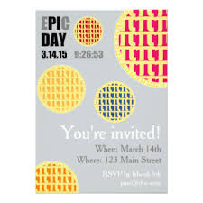 pi day invitation happy pie day invitations announcements zazzle