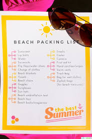 Packing List For Summer Vacation Printable Packing List For The Beach Download Them Or Print