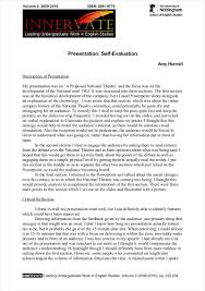 evaluation essay pdf format  printable self evaluation essay example