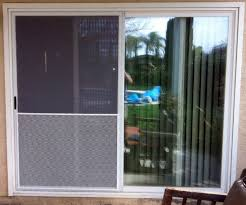 large grille on sliding screen doo