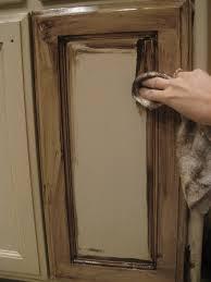 glazing painted kitchen cabinets