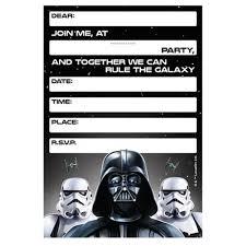 003 Template Ideas Star Wars Invitation Wonderful