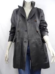 burberry s leather trench coat