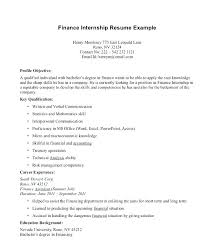 Intern Resume Examples Intern Resume Examples Finance Resumes Co Us