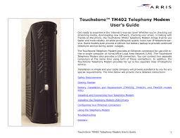 Arris Modem Ds Us Lights Blinking Touchstone Tm402 Telephony Modem User S Guide