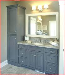 bathroom vanity and linen cabinet. Linen Cabinet Bathroom Vanity With Attached Cherry . And I