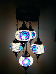 mesmerizing turkish chandelier mosaic chandelier 5 ball blue purple hanging glass mosaic with chandelier lighting turkish