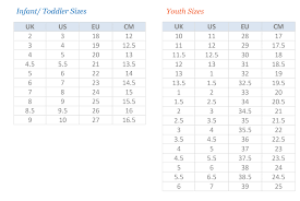 Uk Shoe Size Chart Child Puma Shoes Size Chart