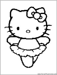 In case you don\'t find what you are looking for, use the top search bar to search again! Hellokitty Ballerina Coloring Page