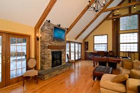 Living Room:Rustic Style Living Room Designs With Vaulted Ceilings And  Stone Fireplace Ideas Charming