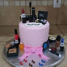 mac makeup birthday cake vanilla cake with vanilla bean ercream made by heavenly delights
