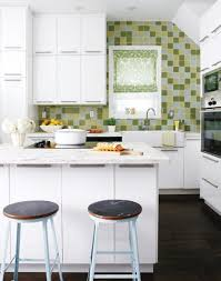 For Breakfast Bars For Small Kitchens Cheerful Tiny Kitchen With Pure White Island With Marble Top Also