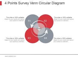 Diagram Venn Ppt 4 Points Survey Venn Circular Diagram Ppt Powerpoint