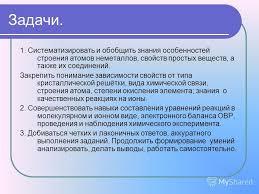 Презентация на тему Обобщающий урок по теме Неметаллы класс  3 1