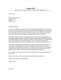 Sample Cover Letter For Pharmaceutical Representative Adriangatton Com
