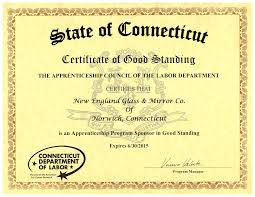 Apprenticeship Certification Ne Glass And Mirrorne Glass And Mirror