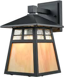 elk 87050 1 cottage matte black outdoor lamp sconce loading zoom