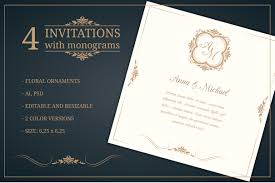 Wedding Invitations With Monograms Invitation Templates Wedding Invitations Monogram